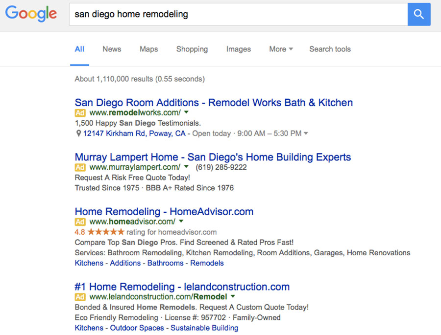 Home Remodeling search result